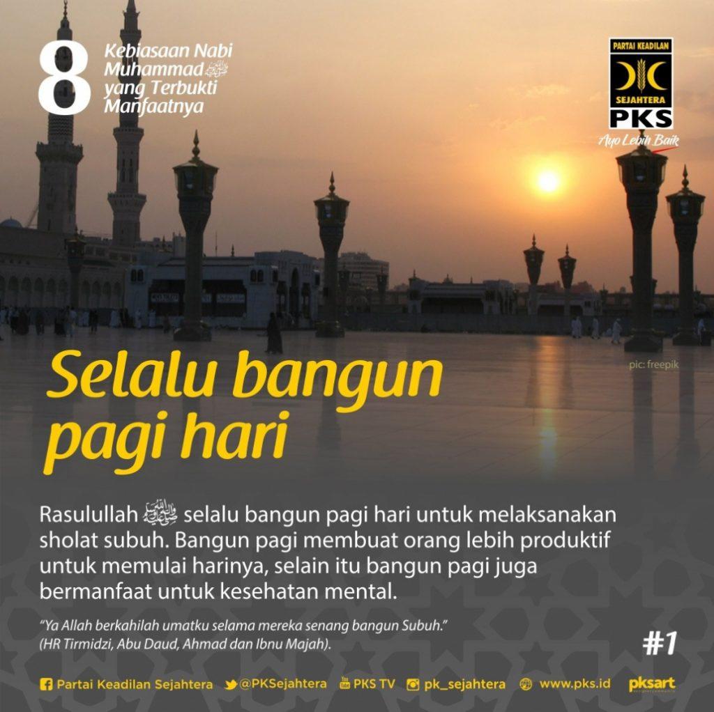 8 Kebiasaan Rasulullah - PKS Kota Batu