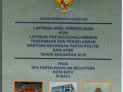 cover LPJ PKS Kota Batu dari BPK